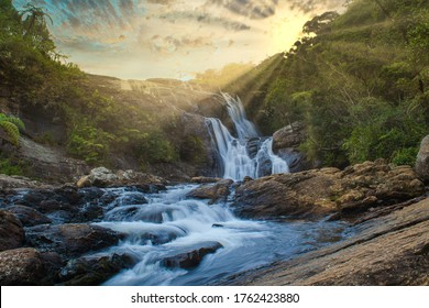 Baker's Falls is a famous waterfall in Sri Lanka. It is located in the Horton Plains National Park, on a tributary of the Belihul Oya.