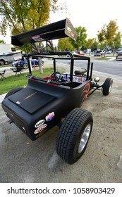 BAKERSFIELD, CA - MARCH 31, 2018: A Ford Model T based hot rod, ready for the road or the local drag strip, is on display at the Cofffee and Cars show.