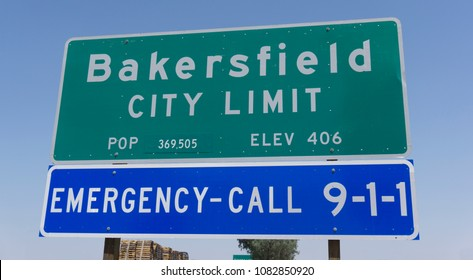 Bakersfield, California, USA. August, 1, 2016. Bakersfield California Public Sign. Taken in the afternoon.