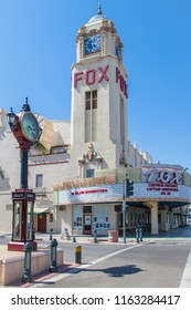 Bakersfield, USA - July 19, 2018: Exterior of the Fox Theatre