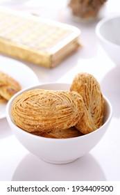 Bäckerei Fain Puff oder Khari mit Ajwain und Mehl - Indischer Backenbiss