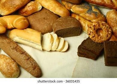 Bakery foodstuffs.