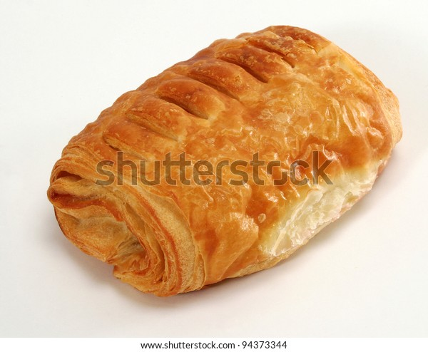 Bakery product on a white background.
