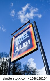 Bakewell, Derbyshire, UK, March 24th 2019. UK's fifth largest supermarket and reigning Grocer of the Year ALDI are due to open its latest new store in Bakewell on Thursday 28th March.
