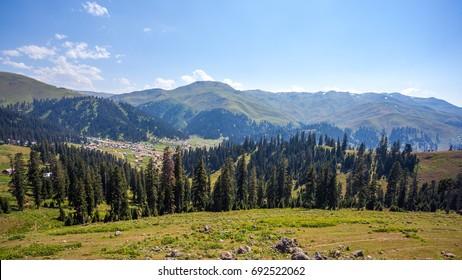 Bakhmaro village, one of the most beautiful mountain resorts of Georgia.
