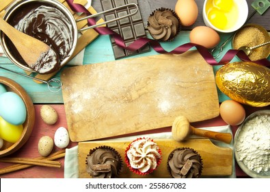Baking background for easter