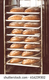 Baking bread in oven