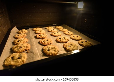 Baking Chocolate Cookie in the Oven