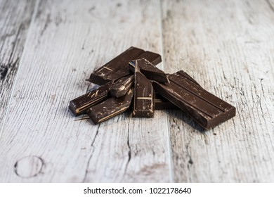 baking chocolate on wooden desk