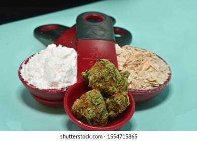 baking cookies with cannabis lfower