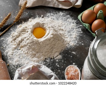 Baking with eggs and flour
