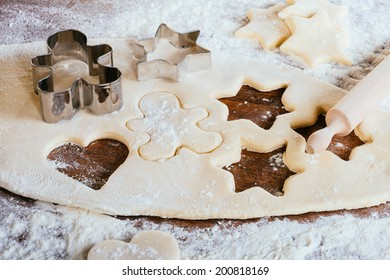 Baking fresh sugar cookies for the Christmas Holiday