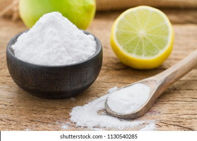 baking and lemon on the wooden table