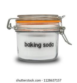 baking soda isolated on white background