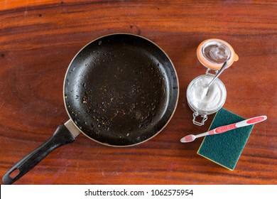 Baking soda to soak and remove burnt-on food in the bottom of  pans