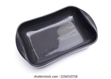 baking tin on the white background