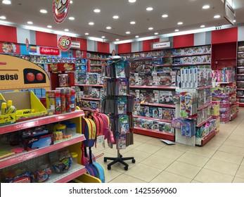 BAKIRKOY - ISTANBUL JUNE 15, 2019: 'Toyzz Shop' toy shop located inside Marmara Forum shopping mall. Istanbul Turkey