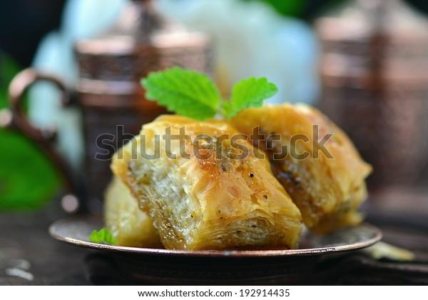 baklava, turkish traditional delight.