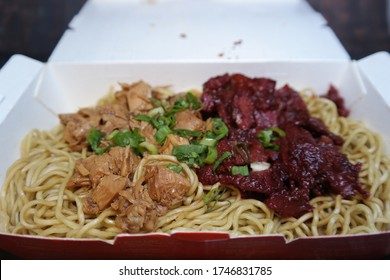 bakmi indonesian noodle with chicken and pork beaf