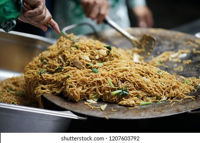 Bakmie Jawa, Indonesian Traditional Street Food Fried Noodle