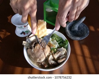 Bakso culinary from indonesia