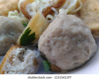 Bakso or meat ball is a famous Indonesian cuisine.