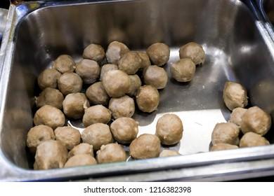 Bakso (Meatballs) Kota Cak Man Malang Ready to eat at Ambon City Maluku