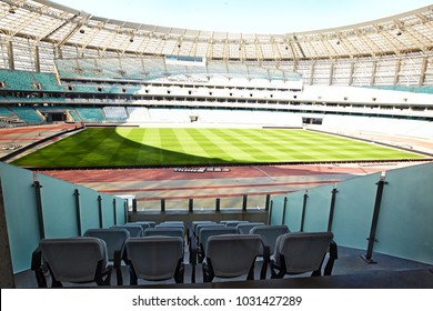 Baku, Azerbaijan - 9 October, 2015: Baku Olympic Stadium skyboxes by Eldeniz B