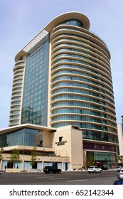 BAKU, AZERBAIJAN - APRIL 28, 2017: JW Marriott Absheron Baku is a luxury 5 star hotel in the center of Baku, Azerbaijan.