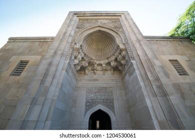 Baku, Azerbaijan, circa august 2018: Sirvansahlar sarayi, Palace of the Shirvanshahs in Baku, Azerbaijan