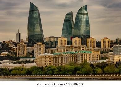 Baku Azerbaijan cityscape