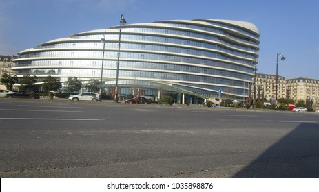 Baku, Azerbaijan - February 25, 2018: Baku White City Office Building.Baku White City is one of the modern world's largest projects
