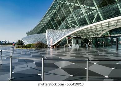 BAKU, AZERBAIJAN - JANUARY 3, 2017 : Heydar Aliyev International Airport in Baku, Azerbaijan on January 3, 2017