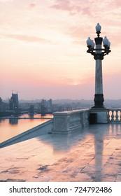 BAKU, AZERBAIJAN - July 16, 2015: panorama Baku city in the morning, Azerbaijan from the park