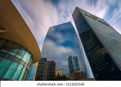 "Baku, Azerbaijan, june 2018. ""Port Baku"" buildings, business center."
