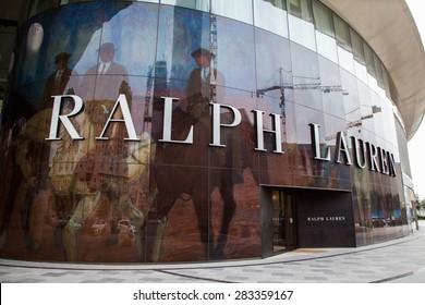 BAKU, AZERBAIJAN -?? May 10 2015:  Facade of Ralph Lauren flagship store in Baku on May 10 2015.