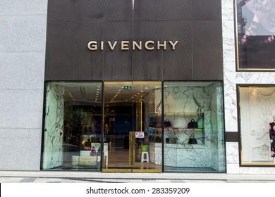 BAKU, AZERBAIJAN -?? May 10 2015: Facade of Givenchy flagship store in Baku on May 10 2015.