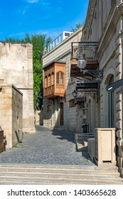 Baku, Azerbaijan - MAY 6, 2019. Street view in the Icherisheher old town of Baku, Azerbaijan