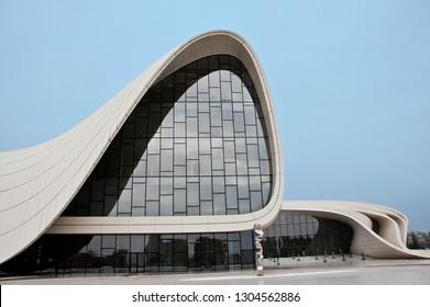 Baku, Azerbaijan - November 2014, Building for Heydar Aliyev Center by Zaha Hadid