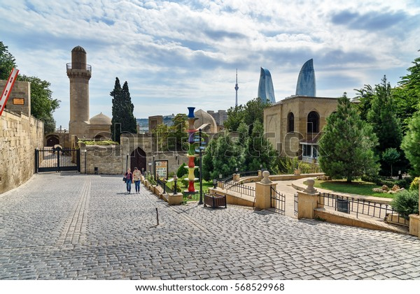 Baku, Azerbaijan - September 10, 2016: Street in Old city, Icheri Shehe is the historical core of Baku. World Heritage Site by UNESCO