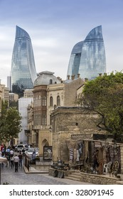 Baku, Azerbaijan, September 16, 2015: City view of the capital of Azerbaijan, Baku, in Azerbaijan.