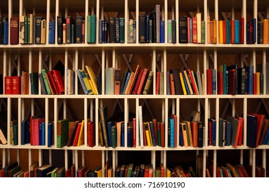 BAKU, AZERBAIJAN - SEPTEMBER 5, 2017: Free colorful books on the shelves at Heydar Aliyev International Airport
