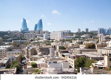 Baku, Azerbaijan ?? September   9, 2016: Ariel shoot for Baku city capital of Azerbaijan country