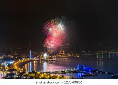 Baku night city