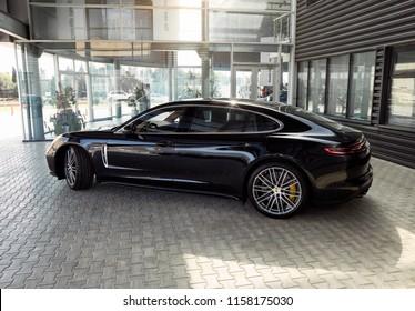 Baku, Nizami / Azerbaijan - 05-15-2018: Porsche car