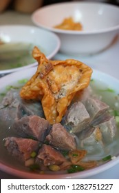 Bakwan Malang is actually very similar with Bakso. However, bakwan malang is served with fried food (gorengan). Consists of meatball, tofu, siomay, soup & fried food.