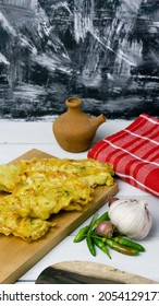 Bakwan sayur or ote-ote or bala-bala is vegetebles fritter from Indonesia. favorite snack made from flour and vegetables