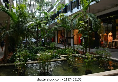 BAL HARBOUR, FL, USA - JANUARY 4, 2018: Bal Harbour Shops located in Bal Harbour, Florida