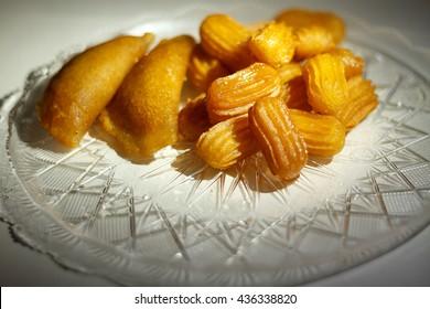 Balah el sham and Katayef Oriental sweets of Ramadan