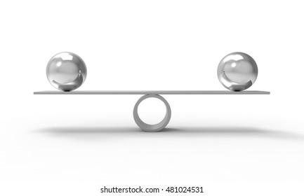 Balance - 3d rendering